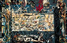 Jackson Pollock's 'Guardians of the secret' has always been an influence. via San Francisco Museum of Modern Art