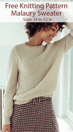 Free Knitting Pattern for Malaury Sweater Sizes 34 in to 52 in cm to 122 cm) Free Knitting Pattern for Malaury Sweater - Long-sleeved pullover knit with a zigzag pattern. Sizes 34 in to 52 in cm to 122 cm) Designed by Phildar. Ravelry Free Knitting Patterns, Free Childrens Knitting Patterns, Double Knitting Patterns, Jumper Knitting Pattern, Christmas Knitting Patterns, Easy Knitting, Knitting Children Sweater, Knitting Sweaters, Tweed