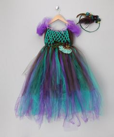 Take a look at this Peacock Deluxe Dress & Halo - Toddler & Girls by Enchanted Fairyware Couture on #zulily today!