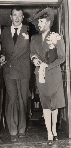 THE SECOND TIME AROUND - John Wayne & 2nd wife Esperanza Baur were married in 1946 and divorced in 1954.