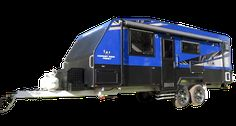 The most popular model of the Wonderland RV range, the Amaroo Hornet, is a truly unique caravan offering a balance of full off-road capabilities with luxurious interiors and tough exterior. Hornet, Caravans, Luxury Interior, Offroad, Wonderland, Vehicles, Blue, Off Road, Car