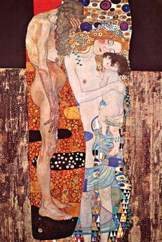 The Three Ages of Woman, detail, by Gustav Klimt