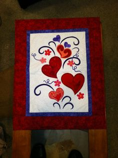 Valentine quilted wall hanging