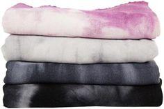 cashmere tie-dye throws