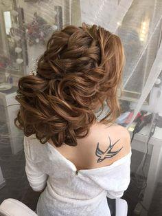 messy wedding hairstyle updo via antonina roman