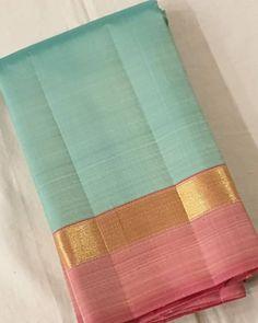 Pure kanjeevaram silk saree Restocked DM for more details No COD Blue Silk Saree, Wedding Silk Saree, Indian Silk Sarees, Pink Saree, Silk Cotton Sarees, Pure Silk Sarees, Cotton Silk, Silk Saree Kanchipuram, Organza Saree