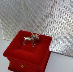 Massiver Anhänger Silber 835 Hund Boxer alt SK785 von Schmuckbaron
