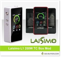 Laisimo L1 200W Mod – Just $57.00: http://www.cigbuyer.com/laisimo-l1-200w-box-mod/ #ecigs #vaping #laisimo #boxmod #vapelife #vapedeals