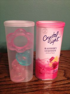 Reuse a Crystal Light packet container for on-the-go soothie/pacifier/binky storage for the diaper bag