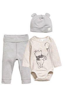 3 piece jersey set grey kids h m ca Disney Baby Clothes, Newborn Boy Clothes, Baby Kids Clothes, Disney Baby Outfits, Kids Clothing, Baby Boy Fashion, Fashion Kids, Baby Boy Outfits, Kids Outfits