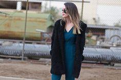 Wearing: No Rest for Bridget jacket, Forever 21 jumpsuit (similar), Jeffrey Campbell loafers