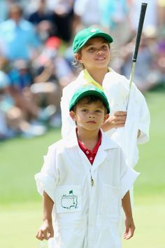 Awwwww! Photos of Those Cuties Sam and Charlie - Tiger Woods' Kids: Sam and Charlie in the Par-3 Contest