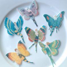 Edible Flapper Butterfly Fairies 18 x Medium by WicksteadsEatMe