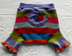 Extra Large XL A Little Bird Told Me 100% Cashmere Diaper Cover $15.00