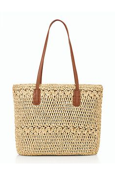 25 Chic Laptop Totes For the Girl on the Go Crochet Handbags, Crochet Bags, Laptop Tote, Straw Tote, Paper Straws, Clutch Purse, Talbots, Tote Bag, Clothes For Women