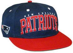 New England Patriots Big Text 2 Tone Flatbill Snapback Hat