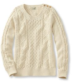 Coveside Sweater, Cable Pullover: Crewnecks | Free Shipping at L.L.Bean