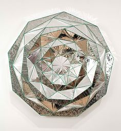 """By Monir Shahroudy Farmanfarmaian. Currently at the Guggenheim Museum in NYC. """"Monir is not only the most renowned, but perhaps also the only practitioner working today in the sphere of mirror mosaics""""."""
