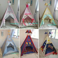 Teepee tent made to order Diy Teepee, Teepee Bed, Sewing Pillows Decorative, Biscuit Decoration, Baby Tent, Diy Resin Art, Kids Furniture, Kids Room, Teepees