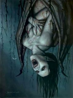 Vampire I artwork Art Vampire, Vampire Love, Female Vampire, Dark Fantasy, Fantasy Art, Dark Gothic, Gothic Art, Creepy, Art Noir