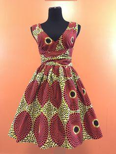 Orange Sheba Wrap Dress