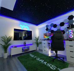 Bedroom Setup, Room Design Bedroom, Room Ideas Bedroom, Dream House Interior, Luxury Homes Dream Houses, Dream Home Design, Hypebeast Room, Music Studio Room, Game Room Design