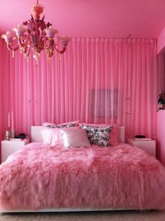 New room decor quarto rosa ideas Dream Rooms, Dream Bedroom, Girls Bedroom, Bedroom Decor, Hot Pink Bedrooms, Bedroom Ideas, Bedroom Colors, Barbie Bedroom, Master Bedroom