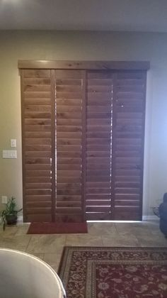 Custom Plantation Shutters For Your Arcadia Door! This Is Our Sliding Door  By Pass With Header And Full Skirt Sides. You Can Choose From Painted Ou2026
