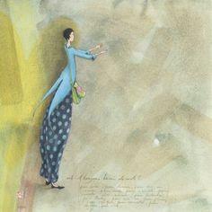 """Gaëlle Boissonnard  carte postale carrée (14 cm)  """"Est-il toujours besoin de mots ?"""""""