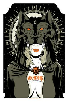 Wolfmother. Poster design: Wes Art Studio (2014).