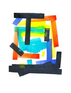 hilo negro -dibujo e ilustración-  #watercolor #stripes