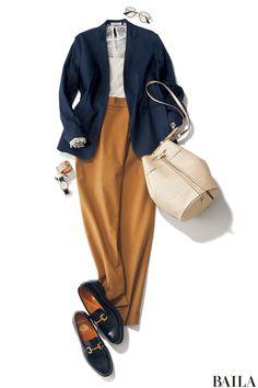 きちんと感と女らしさを両立したいなら、今旬のジャケット×パンツスタイルで-@BAILA
