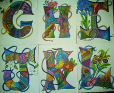 Zen Spirit Art on Facebook letters look great together .....order 3x5 or 4x6 to spell a name Flower Alphabet, Spirited Art, Zen, Letters, Facebook, Flowers, Painting, Painting Art, Letter