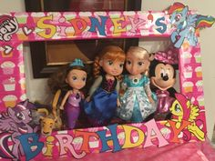 A homemade birthday picture frame I made for my sweetie's party. I usually do a photo wall with props but wanted to change it up. People were able to pass this around and take cute pictures together. Materials: Styrofoam board, scrapbook paper, razor blade, wrapping paper, tape, and anything to decorate it with.