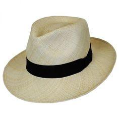 6eecefaa96665 Panama Straw C-Crown Fedora Hat. Chapéus MasculinoHomem ...
