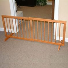 Step Over Oak Dog Gate