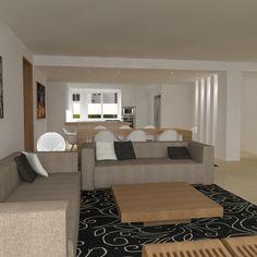Remodelación de apartamento en Cumbres de Curumo - Sala