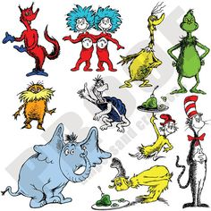 Dr Seuss  Character Portrait Pack