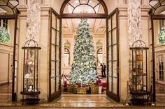 New York City has many amazing Christmas trees to admire this holiday season. The one at Rockefeller Center is certainly the largest. But for a more glam option, and possibly the classiest one in town, you need to go to the Plaza Hotel New York City Christmas, Christmas Travel, Christmas 2017, Christmas Time, Christmas Photos, Merry Christmas, Xmas, Christmas Vacation, Christmas Design
