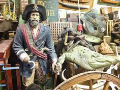 pirate home decor ideas at stoneage antiques, miami, florida.