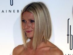 Gwyneth Paltrow Hair. This angled mid-length bob is a good transition when growing out short hair, because it looks good at all lengths.