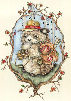 vintage hedgehog illustration - Google zoeken