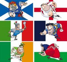 RBS Gorro Alpino de Rugby de 6 Naciones