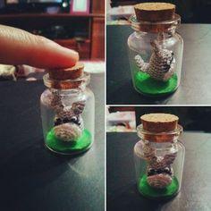 Miniature Totoro in a bottle