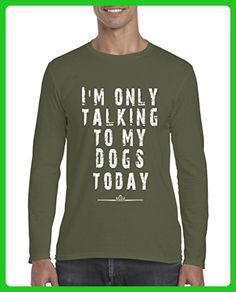 Ugo I am Only Talking to My Dogs Today Christmas Birthday Gift Match w Dog Food Softsyle Long Sleeve Men's T-Shirt Tee - Holiday and seasonal shirts (*Amazon Partner-Link)
