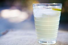 Homemade Ginger Ale ~ Easy homemade ginger ale, with grated ginger, simple syrup, lime and club soda. ~ SimplyRecipes.com