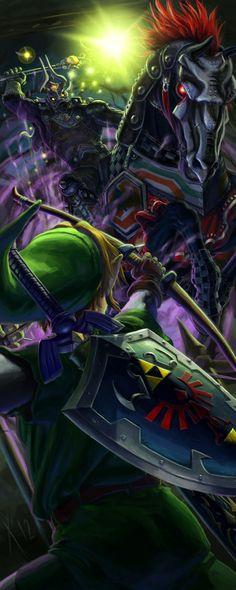 Link vs Ocarina of Time bosses by Xabier Urrutia Pérez, via Behance