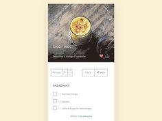 Food App Transition by Paulina Jadeszko