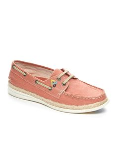 Another great find on #zulily! Coral South Seas Boat Shoe by Margaritaville #zulilyfinds