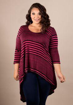 plus-size-fashion magentastripe_pink_black_multi